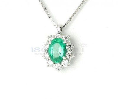 Collana-smeraldo-e-diamanti-0.41ct