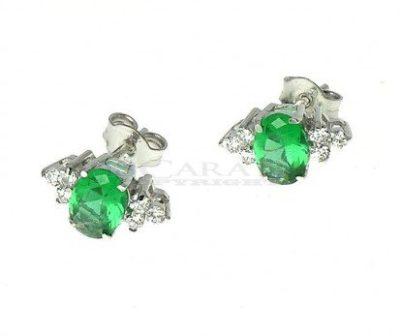 Orecchini-con-smeraldi-sintetici-e-zirconi-Swarowski