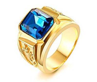 Vnox-Anello-di-fidanzamento-di-cristallo-placcato-oro-18K-acciaio-inox-con-strass-Blu-Uomo