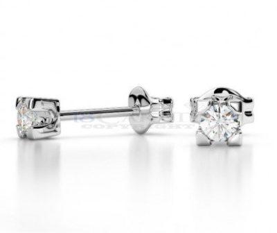 orecchini classici punto luce con diamanti