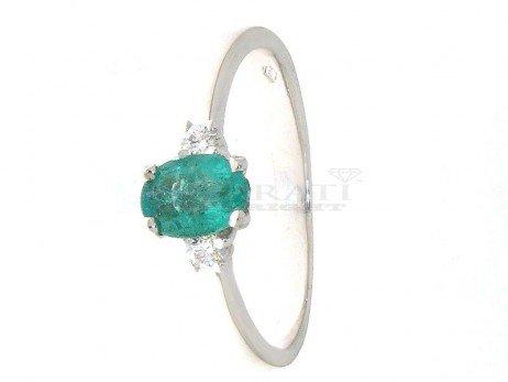 Anello-con-smeraldo-e-diamanti-0.08ct